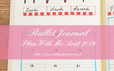 BULLET JOURNAL : Plan With Me Août