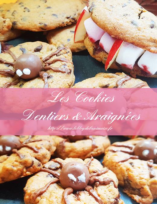 Recette Halloween : Les Cookies Dentiers et Araignées
