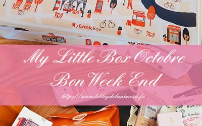 My Little Box Octobre 2019 : Bon Week End