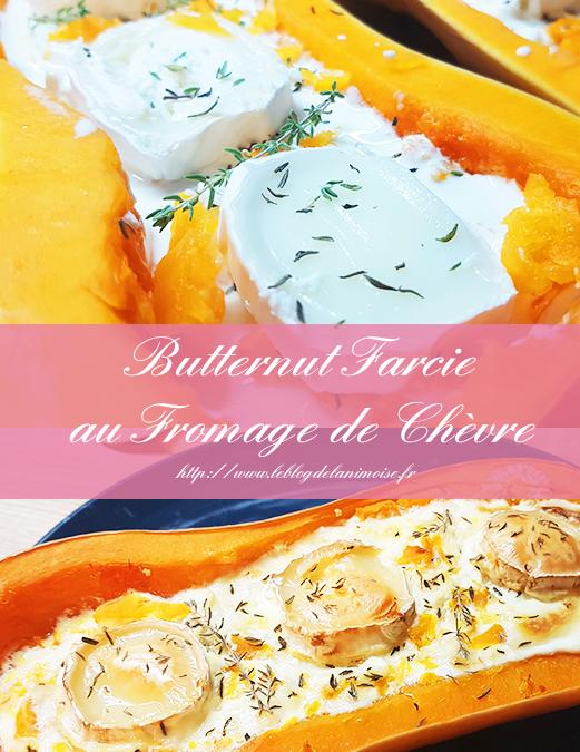 Recette : Butternut farcie au fromage de Chèvre